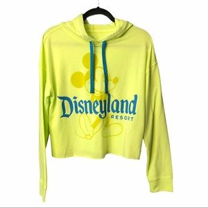 Mickey Mouse Pullover Hoodie Disneyland Neon